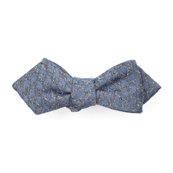 Slate Blue Houndstooth Thrill Bow Tie