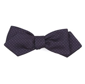 Flicker Eggplant Bow Ties