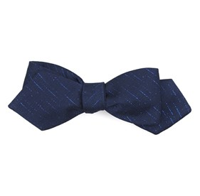 Solid Trace Navy Bow Ties