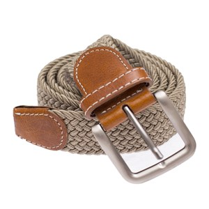 braided khaki belt