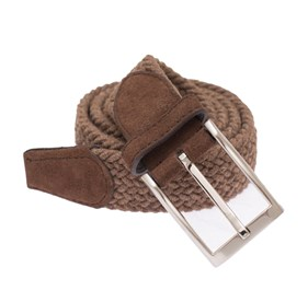 Brown Textured Braided belt