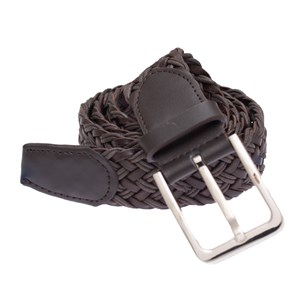 leather braided brown belt