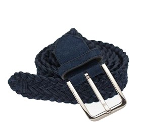 Navy Suede Braided belt