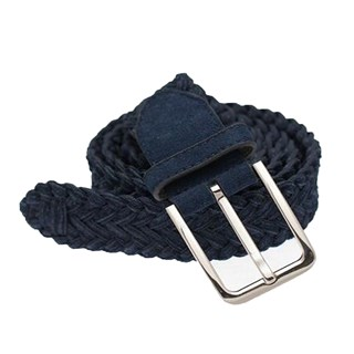 Suede Braided Navy Belt