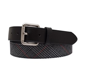 Black Gala Plaid belt