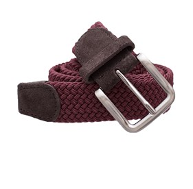 Burgundy Braided belt
