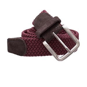 braided burgundy belt