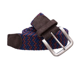 Blue Braided Two-tone belt