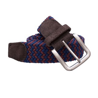 braided two-tone blue belt