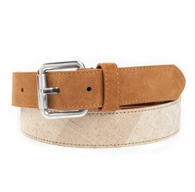 Khaki Canvas Check belt
