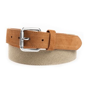 Khaki Canvas Solid belt