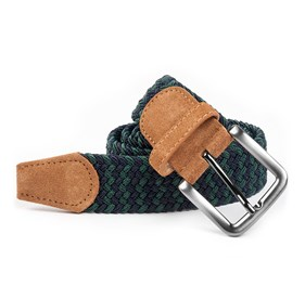 Navy Braided Two-tone belt