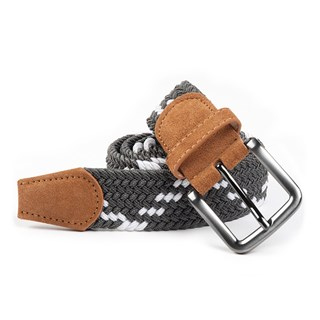 braided zig-zag grey belt