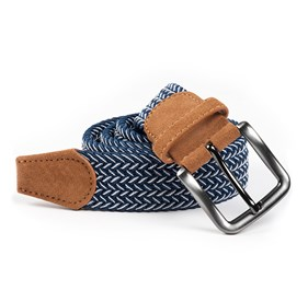 Navy Braided Herringbone belt