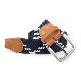 Navy Braided Zig-zag belt