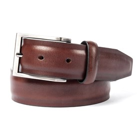 Brown Solid Leather belt