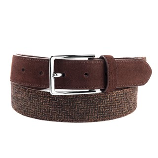 Harrison Herringbone Brown Belt