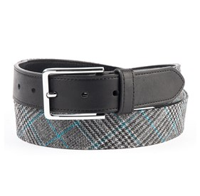 Grey Matteson Plaid belt