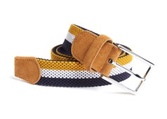 Belts - On Your Mark Stripe - Yellow