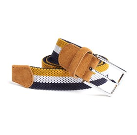 Yellow On Your Mark Stripe belt