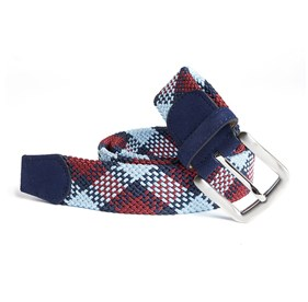 Navy Chalk Checks belt