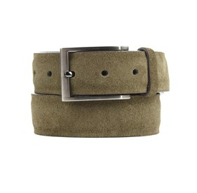 Olive Green Solid Suede belt