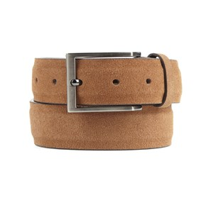 solid suede tan belt