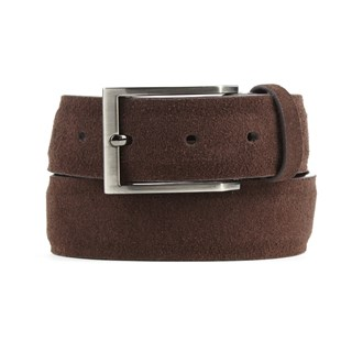 solid suede brown belt