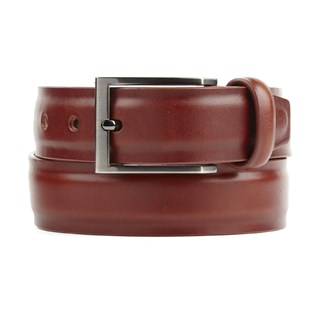 solid leather cognac belt