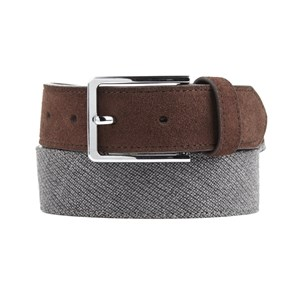 business solid grey belt