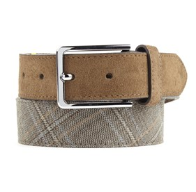 Tan Pinewood Plaid belt