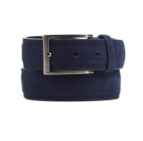 Navy Solid Suede belt