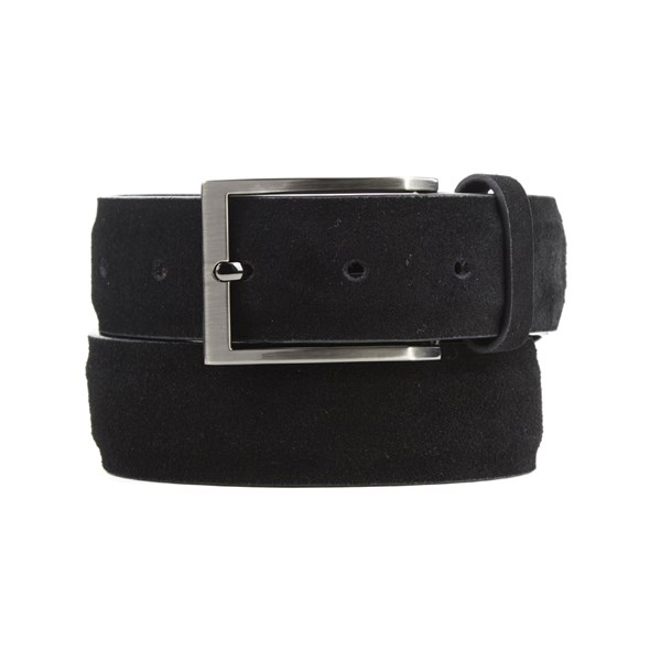 Black Solid Suede Belt