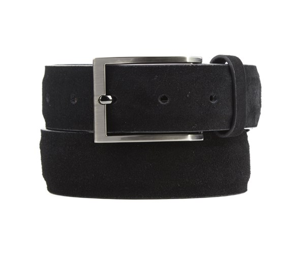 Solid Suede Black Belt