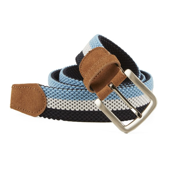 Light Blue On Your Mark Stripe Belt