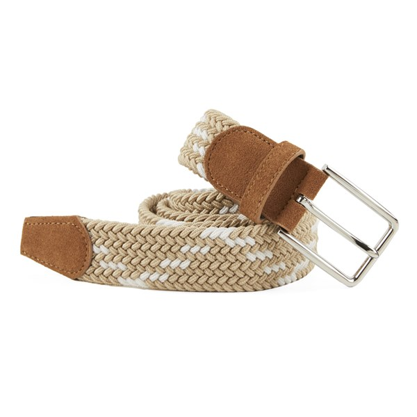 Khaki Braided Zig-Zag Belt