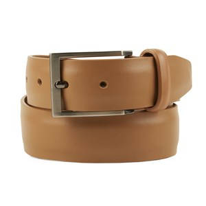solid leather tan belt