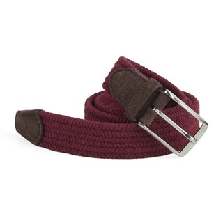 braided deep burgundy belt