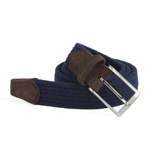 braided navy belt