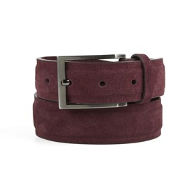 Burgundy Solid Suede belt