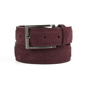 solid suede burgundy belt