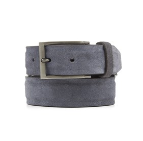Grey Solid Suede belt