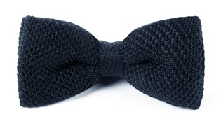 BOW TIES - KNITTED - MIDNIGHT NAVY