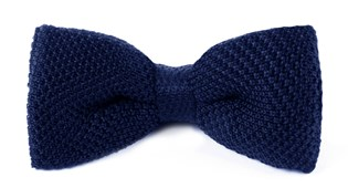 BOW TIES - KNITTED - BLUE