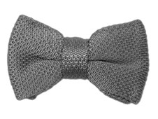 BOW TIES - KNITTED - Grey