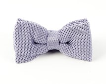 BOW TIES - KNITTED - LILAC