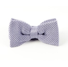 Knitted Lilac Bow Ties