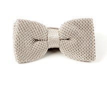 BOW TIES - KNITTED - SILVER
