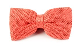 BOW TIES - KNITTED - CORAL