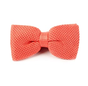 Knitted Coral Bow Ties